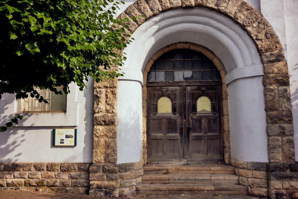 Eingangstür historische Ölmühle Wanfried (Foto: Niko Martin / thegood.media)